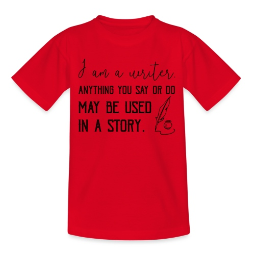 0266 writer | Author | Book | history - Teenage T-Shirt
