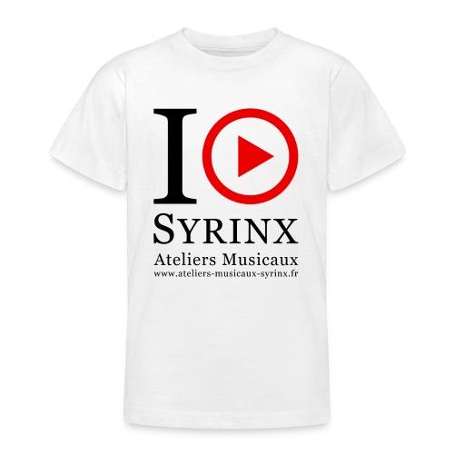 Logo IPSyrinx White Line - T-shirt Ado