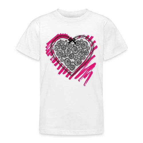 bloemen hart - Teenager T-shirt