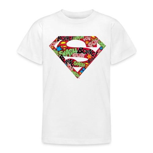 DC Comics Superman Logo Mit Lautmalerei - Teenager T-Shirt