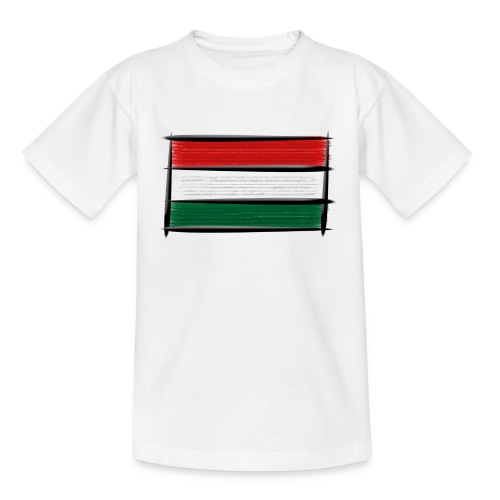 Art Flagge Ungarn - Teenager T-Shirt