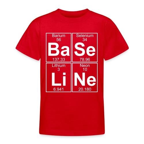 Ba-Se-Li-Ne (baseline) - Full - Teenage T-Shirt
