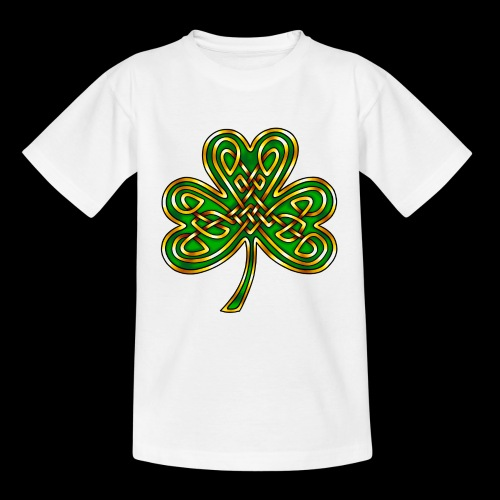 Celtic Knotwork Shamrock - Teenage T-Shirt