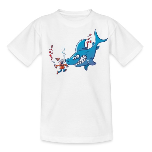 Sharks are Furious, Stop Finning! - Teenage T-Shirt
