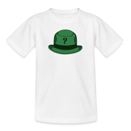 Grüner Rätsel Hut Riddler - Teenager T-Shirt