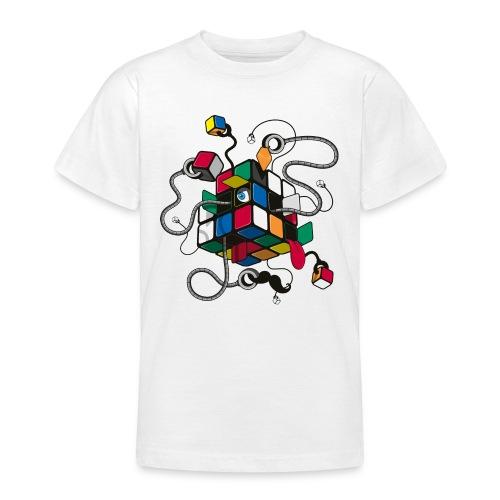 Rubik's Cube Robot Style - Teenage T-Shirt