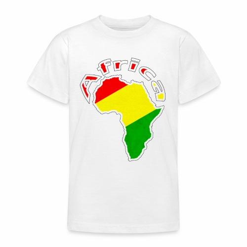 Afrika - rot gold grün - Teenager T-Shirt