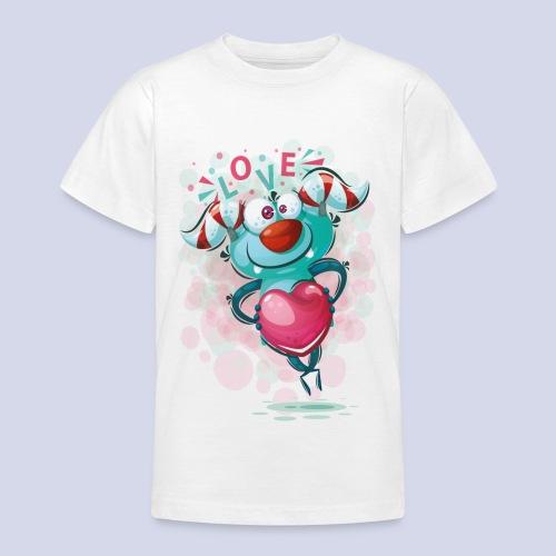 Monster cartoon love design - Teenage T-Shirt