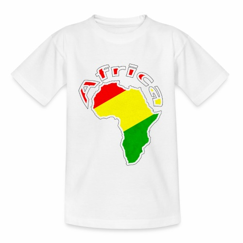Afrika - rot gold grün - Teenager T-Shirt