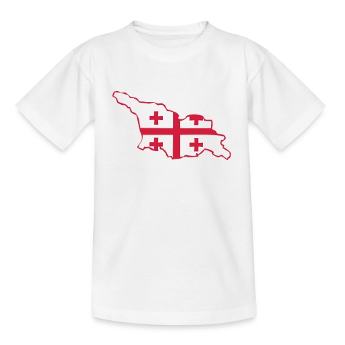 Landkarte mit Flagge - Teenager T-Shirt