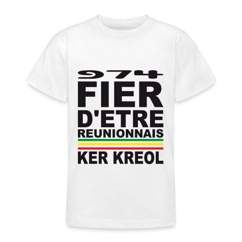 974 Fier d'être Réunionnais - 974 Ker Kreol v1.2 - T-shirt Ado