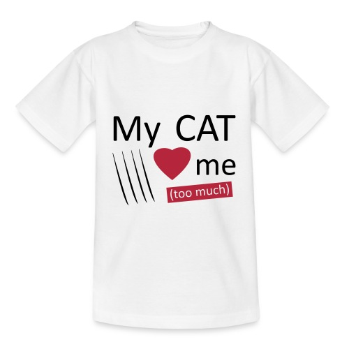 My cat loves me (too much) - T-shirt Ado