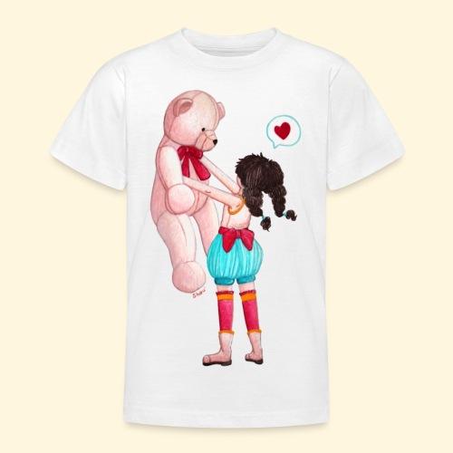 Fille au Nounours géant - T-shirt Ado