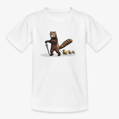 Red Panda with Ducks - Teenage T-Shirt