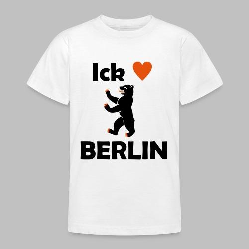 Ick liebe ❤ Berlin - Teenager T-Shirt