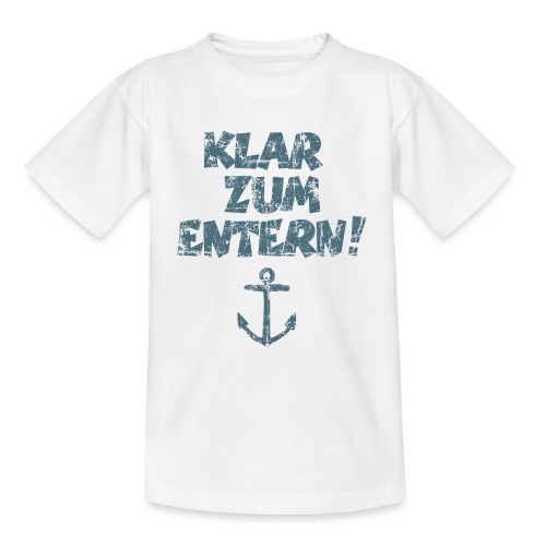 Klar zum Entern Vintage Segel Design (Dunkelblau) - Teenager T-Shirt