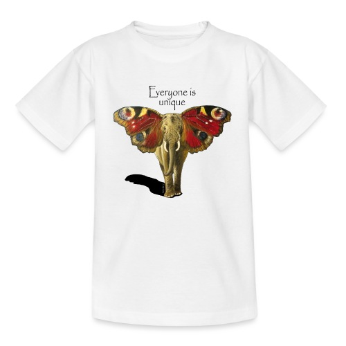 Everyone is unique – Schmettefant - Teenager T-Shirt
