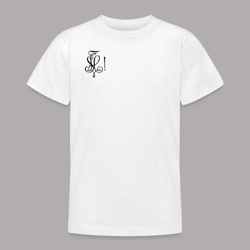 Zirkel, schwarz (vorne) - Teenager T-Shirt