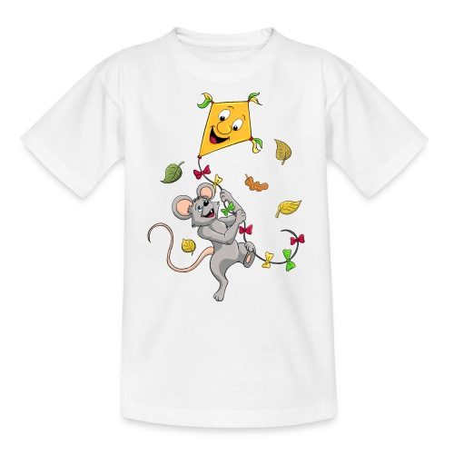 Maus mit Drachen im Herbst - Teenager T-Shirt