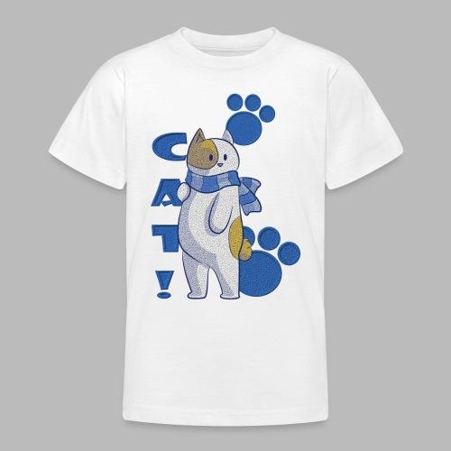 gato lindo con bufada, gato divertido - Camiseta adolescente
