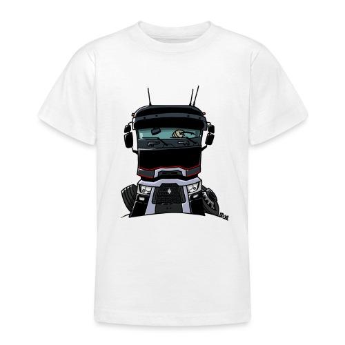 0813 R truck zwart - Teenager T-shirt