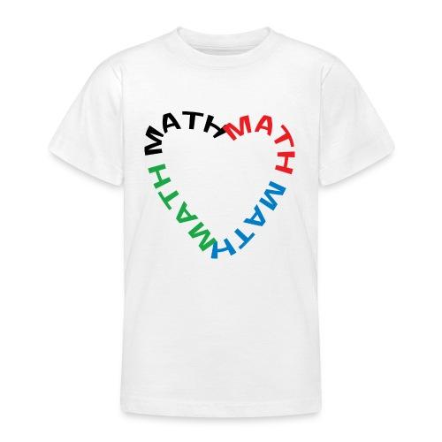 Math Text Heart - Teenage T-Shirt