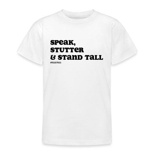 Speak, stutter & stand tall # WHITE/GRAY - T-shirt tonåring