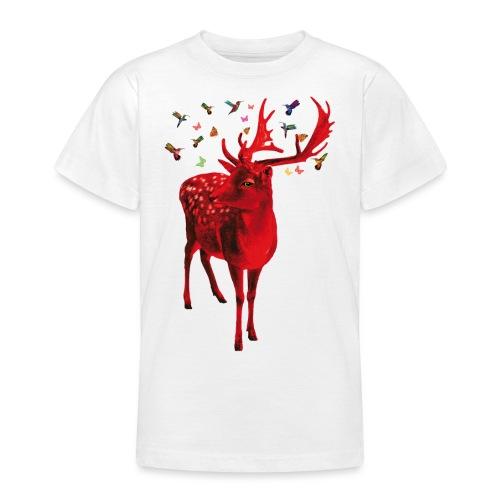 01 Schicker Hirsch rot Hirschgeweih - Teenager T-Shirt