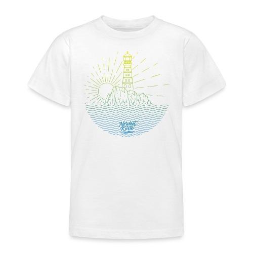 Leuchtturm mit Sonne am Meer - Teenager T-Shirt