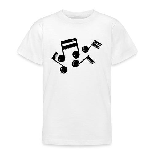 Musik Symbol Noten Musiker Musikerin spielen - Teenager T-Shirt