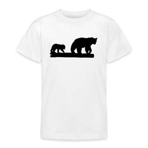Bären Bär Grizzly Wildnis Natur Raubtier - Teenager T-Shirt