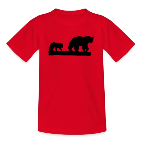 Bären Bär Grizzly Wildnis Natur Raubtier - Teenager T-Shirt