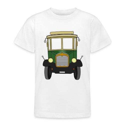 Oldtimer Ansicht von vorne (schwarz) - Teenager T-Shirt