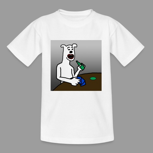 PoopyPoops in het cafe - Teenager T-shirt