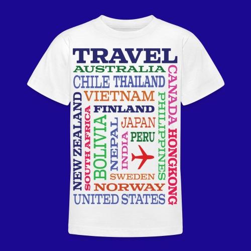 Travel Places design - Nuorten t-paita