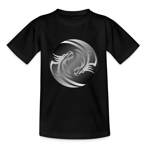 Yin Yang Dragon - Teenage T-Shirt