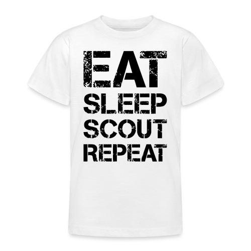 EAT SLEEP SCOUT REPEAT Kreide - Farbe frei wählbar - Teenager T-Shirt