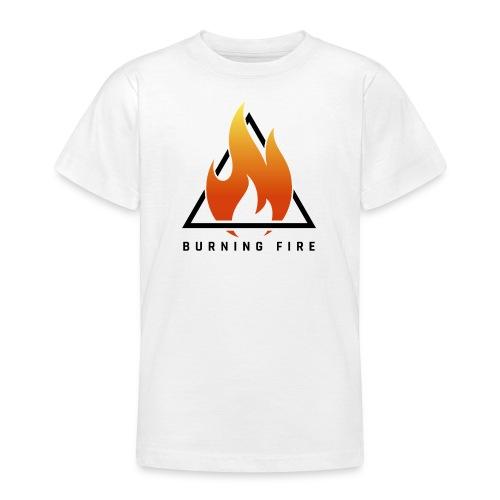 BURNING FIRE Logo - Teenager-T-shirt