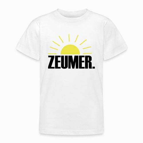 ZEUMER IN ZEELAND - ZON, ZEE & STRAND ZEEUWSE KUST - Teenager T-shirt