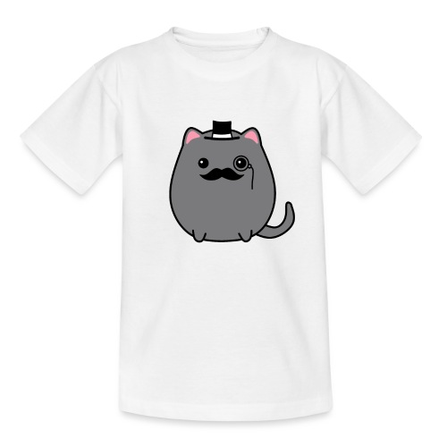Gentleman Katze - Teenager T-Shirt