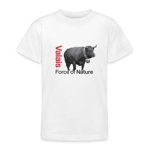 Naturgewalt - Kuh von Hérens Wallis - Teenager T-Shirt