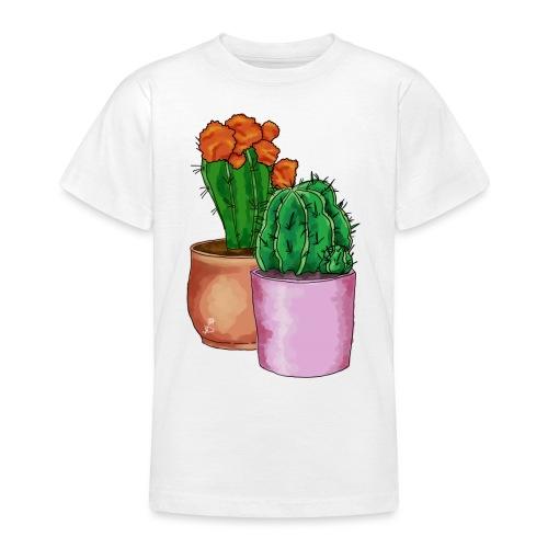 Prikkende cactus planten - Teenager T-shirt