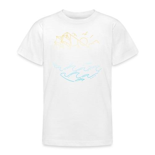 Schiff mit Sonne und Meer - Teenager T-Shirt