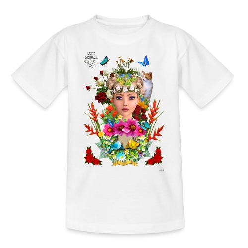 Lady spring - By t-shirt chic et choc - T-shirt Ado