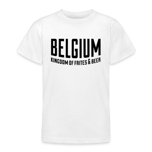 Belgium kingdom of frites & beer - T-shirt Ado