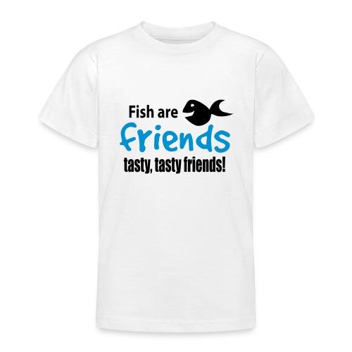 Fisk er venner - T-skjorte for tenåringer