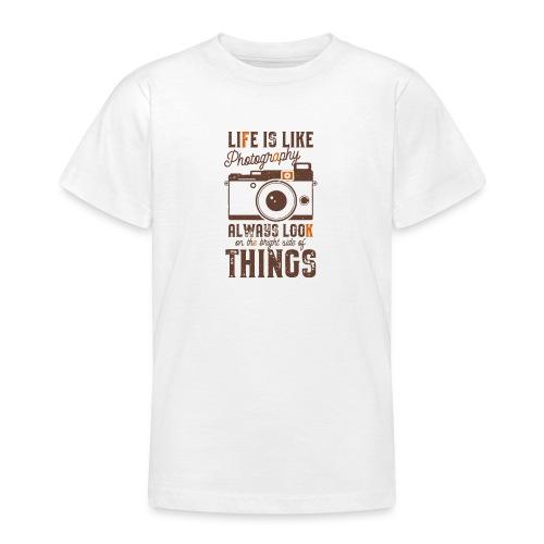 Life is like Photography - Maglietta per ragazzi