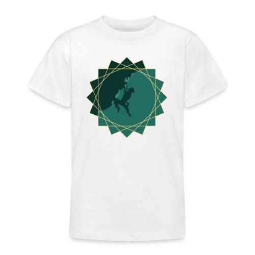 Kletterer beim Klettern - Teenager T-Shirt