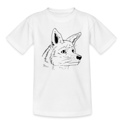 Strichzeichnung Fuchs - Teenager T-Shirt