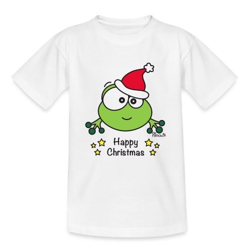 Grenouille, Frog, Fêtes Nôel, Happy Christmas - T-shirt Ado